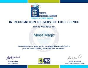 mega magic certificate